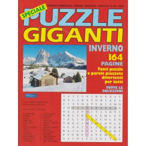 Speciale Puzzle Giganti inverno  2020 -n.102 - trimestrale -gennaio - marzo 2021- 164 pagine