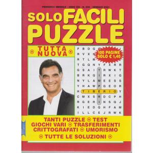 Solo Facili Puzzle - n. 206 - mensile - gennaio 2021 - 100 pagine