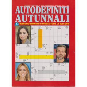 Autodefiniti autunnali- n. 61  - trimestrale -ottobre - dicembre 2021