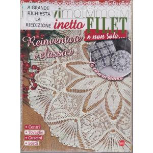 Motivi all'uncinetto - Filet e non solo... n. 37 - bimestrale giugno - luglio 2021- 2 riviste