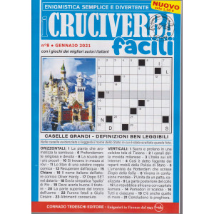 I Cruciverba Facili - n. 8 - gennaio 2021 - mensile