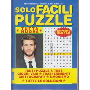 Solo Facili Puzzle - n. 208 - mensile - marzo  2021 - 100 pagine