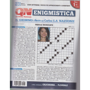 Enigmistica - n. 180 - 9/8/2021- settimanale