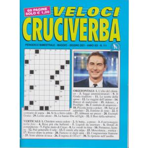 Veloci Cruciverba - n. 111 - bimestrale -maggio - giugno  2021 - 68 pagine