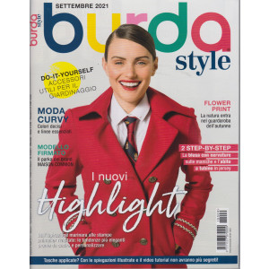Burda style -  n. 9 - settembre  2021 - mensile  -
