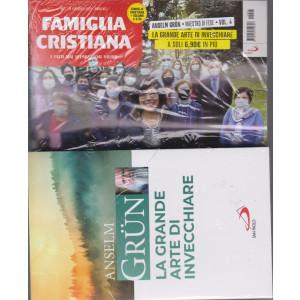 Famiglia Cristiana + il libro di Anselm Grun - La grande arte di invecchiare -   n. 7- settimanale -14 febbraio 2021    - rivista + libro