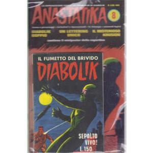 Diabolik + Anastatika - n. 8  del 1963-Sepolto vivo! - settimanale