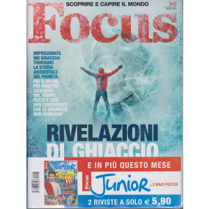 Focus + Focus Junior - n. 342 - aprile  2021 - mensile - 2 riviste
