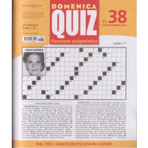 Domenica Quiz - n. 38- settimanale -23 settembre  2021