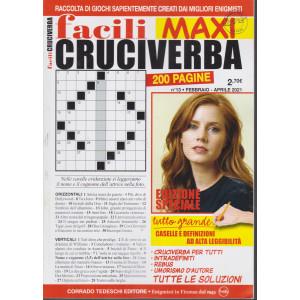 Facili Cruciverba Maxi - n. 13 - febbraio - aprile 2021 - bimestrale - 200 pagine
