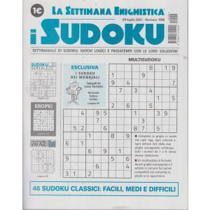 La settimana enigmistica - i sudoku - n. 158 - 29 luglio 2021 - settimanale