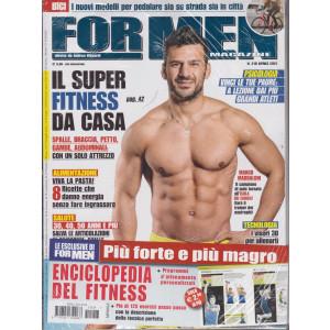 For men magazine - mensile n. 218-  aprile 2021 + Enciclopedia del fitness - 2 riviste