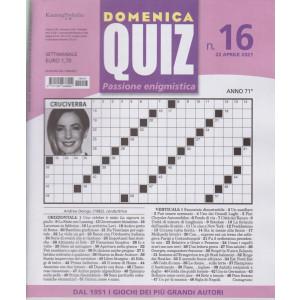 Domenica Quiz - n. 16- settimanale -22 aprile  2021