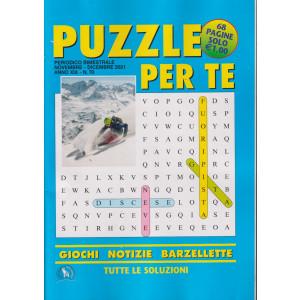 Puzzle per te - n. 70 -novembre - dicembre 2021- bimestrale - 68 pagine