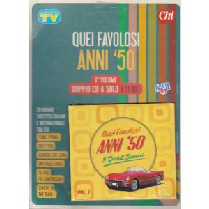 Cd Sorrisi Canzoni -n. 13- Quei favolosi anni '50 - 13/7/2021 - settimanale - 1° volume - doppio cd