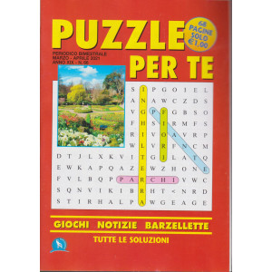 Puzzle per te - n. 66 - marzo - aprile 2021 2021 - bimestrale - 68 pagine