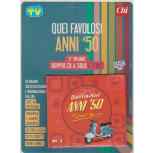 Cd Sorrisi Canzoni -n. 15- Quei favolosi anni '50 - 27/7/2021 - settimanale - 3° volume - doppio cd