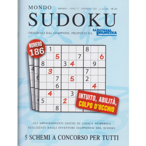 Mondo Sudoku - n. 186 - mensile - febbraio 2021