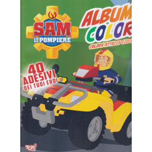 Toys2 Sticker - Sam il pompiere - Album color - n. 46 - bimestrale - 14 gennaio 2021