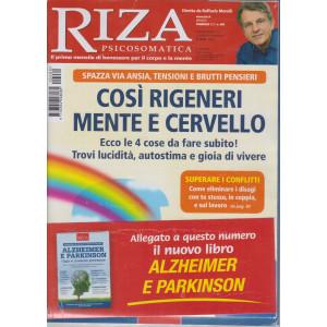 Riza Psicosomatica -Così rigeneri  mente e cervello +Alzheimer e Parkinson  - n. 480 - mensile - febbraio 2021 - 2 riviste