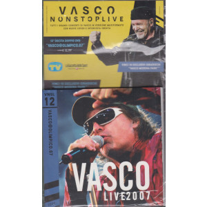 Grandi Raccolte Musicali n. 12  -Vasco nonstoplive - Vasco @olimpico .07  - dodicesima uscita  -doppio cd - settembre 2021 -