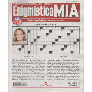 Enigmistica Mia - n. 51 - 21  dicembre 2020 - settimanale