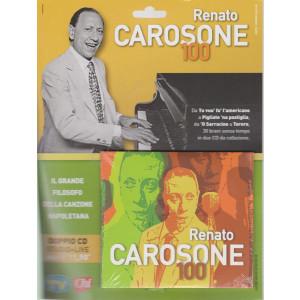 Cd Sorrisi Canzoni -n. 9-   Renato Carosone -  100 - doppio cd - studio + live -  maggio 2021-  settimanale