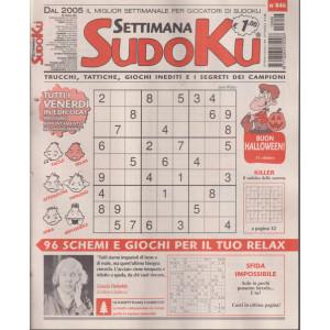 Settimana Sudoku - n. 846 - settimanale -29  ottobre  2021