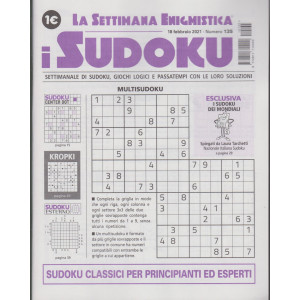La settimana enigmistica - i sudoku - n. 135 - 18 febbraio  2021 - settimanale