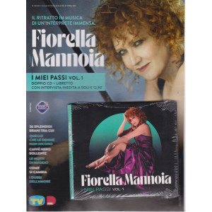 Cd Musicali di Sorrisi - n. 4 -Fiorella Mannoia - 27 aprile 2021 - settimanale - I miei passi - vol. 1 - doppio cd + libretto