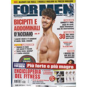 For men magazine - mensile n. 217-  marzo 2021 + Enciclopedia del fitness - 2 riviste