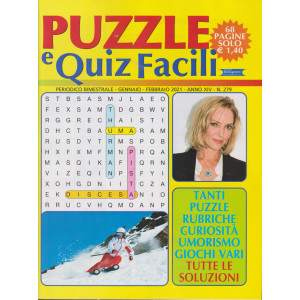 Puzzle e Quiz Facili - n. 279- bimestrale - gennaio - febbraio  2020 - 68 pagine
