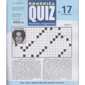 Domenica Quiz - n. 17- settimanale -29 aprile  2021