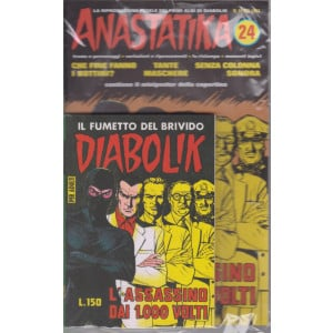 Diabolik + Anastatika - n. 24  del 1964 -L'assassino dai 1000 volti- settimanale -