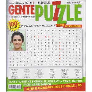 Gente Puzzle - n. 3  - mensile - 25 febbraio  2021 - 100 puzzle - 100 pagine!