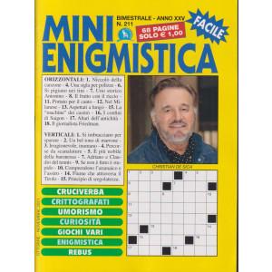 Mini Enigmistica - n. 211- bimestrale -ottobre - novembre 2021 - 68 pagine