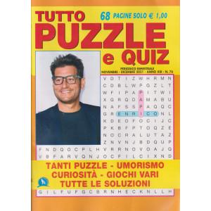 Tutto Puzzle e  Quiz - n. 76 - bimestrale  -novembre - dicembre 2021