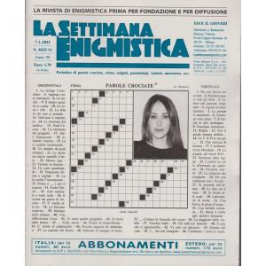 La Settimana Enigmistica - n. 4633 - 7/1/2021 - settimanale