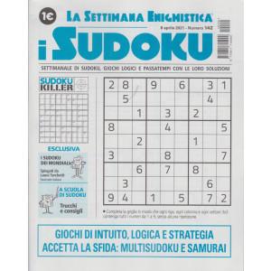 La settimana enigmistica - i sudoku - n. 142 - 8 aprile    2021 - settimanale