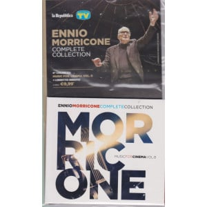 Gli speciali musicali di Sorrisi - n. 25 -20/8/2021 -Ennio Morricone - Complete collection -ottava   uscita cd Muisc for cinema vol. 8 + libretto inedito