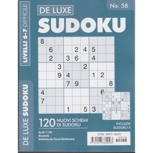 De Luxe Sudoku - n. 58 - bimestrale - livelli 6-7 difficile