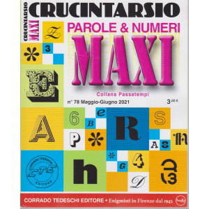 Maxi Crucintarsio - n. 78  - maggio - giugno  2021 - trimestrale