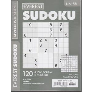 Everest Sudoku -  - n. 58 - livelli 7-8 estremo - bimestrale