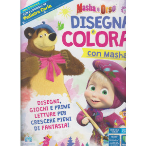 Masha e Orso - Disegna e colora con Masha  - n. 3 - giugno - luglio 2021 - bimestrale