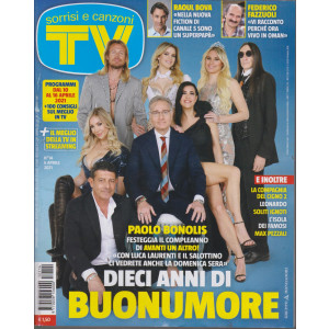 Sorrisi e Canzoni tv -n.  14 - settimanale -6 aprile 2021