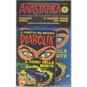 Diabolik + Anastatika - n. 9  del 1963-Il treno della morte  - settimanale -