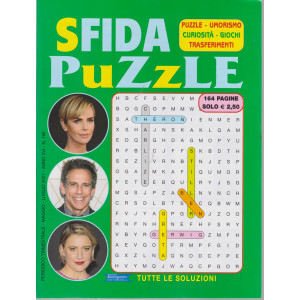 Sfida puzzle - n. 166 - trimestrale - maggio - luglio  2021 - 164 pagine