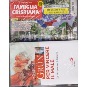 Famiglia Cristiana + il libro di Anselm Grun -Per vincere il male-   n. 9- settimanale -28 febbraio 2021    - rivista + libro