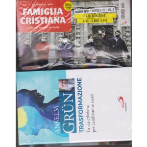 Famiglia Cristiana + il libro di Anselm Grun - Trasformazione-   n. 5- settimanale -31  gennaio 2021    - rivista + libro
