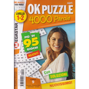 Ok Puzzle 4000 parole - n. 9 - livello 1-2 - novembre - dicembre 2021  - bimestrale